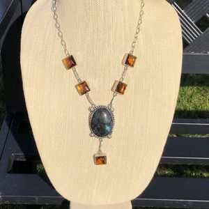 NEW! Labradorite & Topaz Necklace